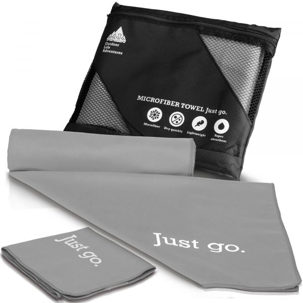 gray fast drying towels
