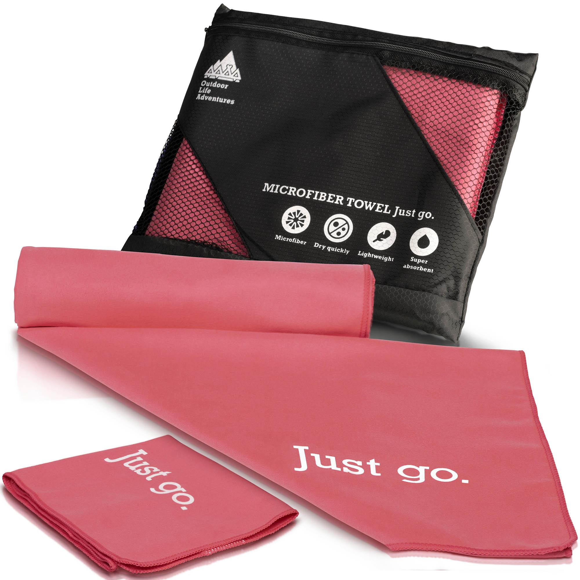 Pink Microfibre towels