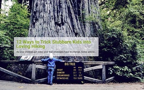 12 ways to trick stubborn kids into loving hiking